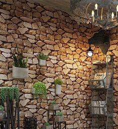 3D Stone Wallpaper Stereo Imitation 1000CM * 53CM Retro Culture Wall Clothing Store Restaurant Bar Wallpaper Stone Wallpaper: Amazon.co.uk: DIY & Tools