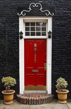 {a red door is so inviting}