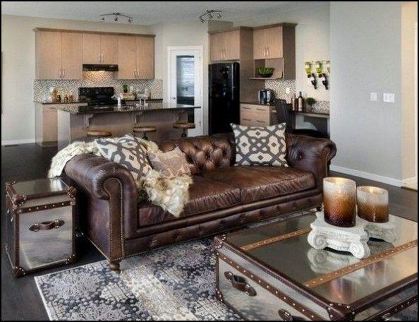 Accent Pillows for Leather sofa | Chesterfield sofa living room,  Chesterfield living room, Brown living room