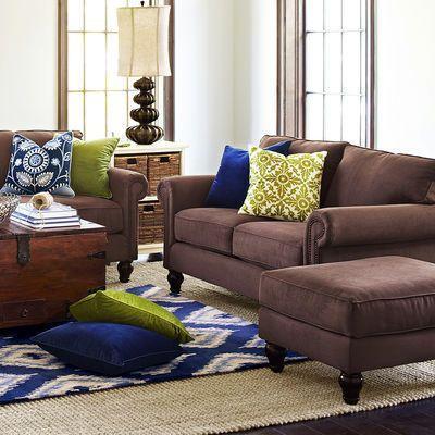 Alton Loveseat - Mahogany | Brown sofa living room, Brown living room, Brown  couch living room