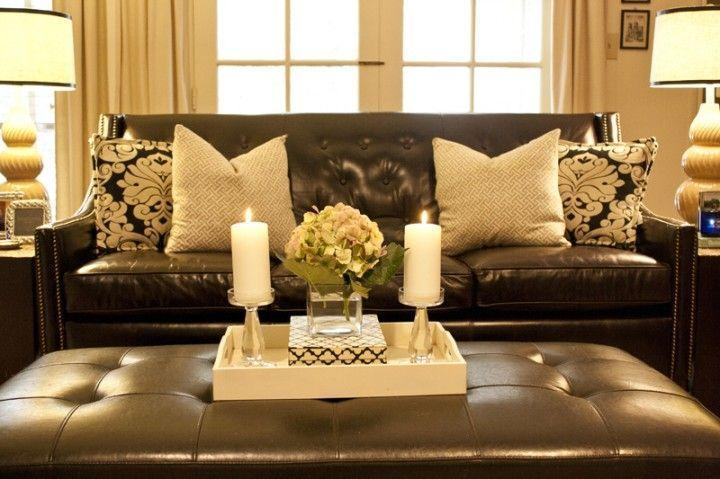 Brown Leather Furniture Decorating Ideas • Variant Living | Brown living  room, Brown couch living room, Brown couch throw pillows