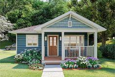 Cozy Tiny Home with Gabled Front Porch - 67754MG | Architectural Designs - House Plans