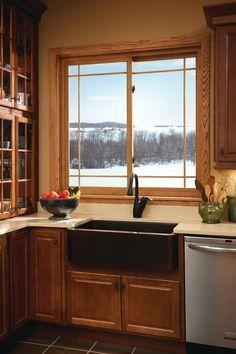 Image result for . Au Natural kitchen window ideas pinterest