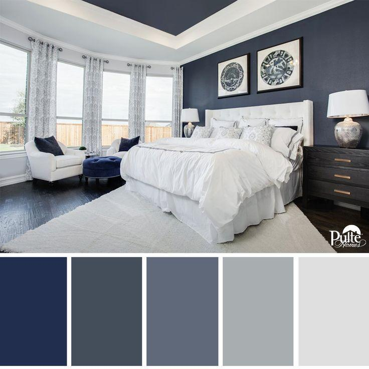 Image result for Blue accent master bedroom pinterest