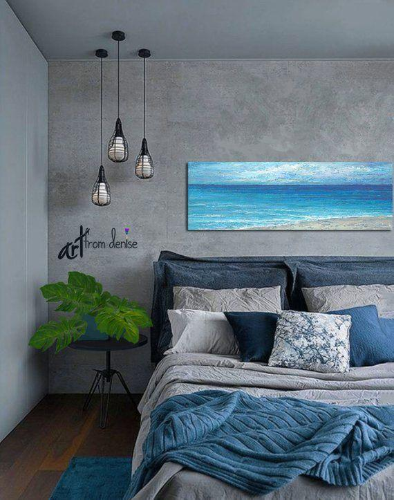 Image result for Bright coastal feeling: blue grey bedroom pinterest