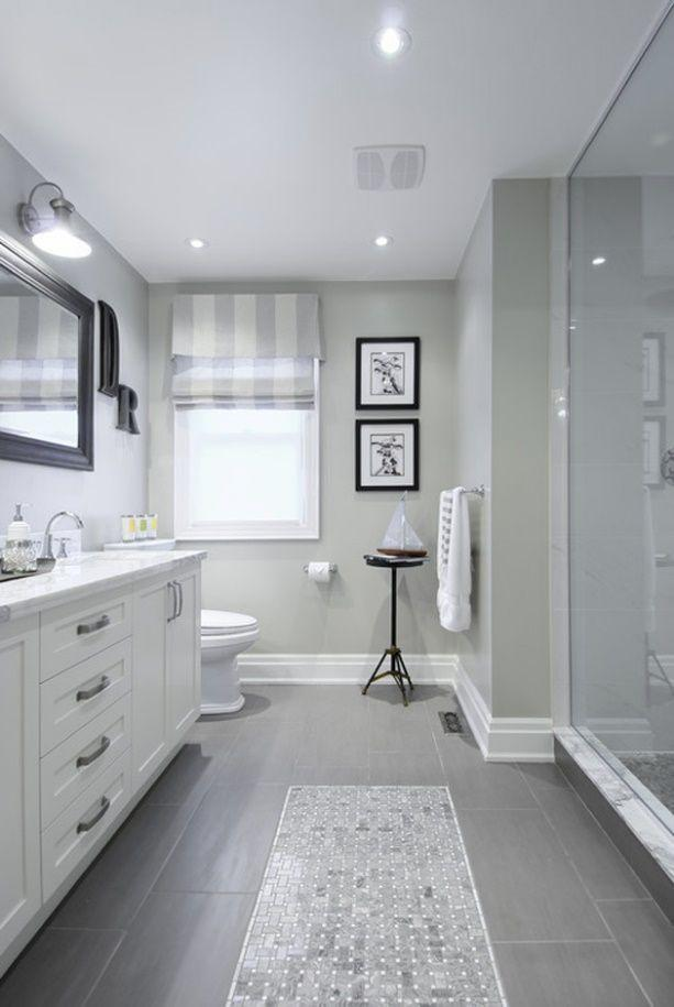 Image result for Bright White Ceiling And White Trim For A Medium Gray  bathroom pinterest