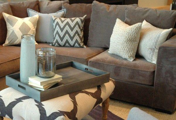 Image result for brown  throw pillows bamboo for brown couch pinterest