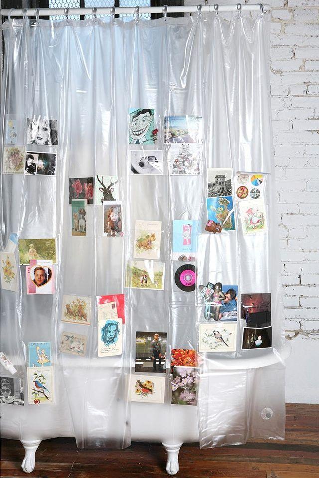 Image result for Bunker wall 17 pocket shower curtain liner  pinterest