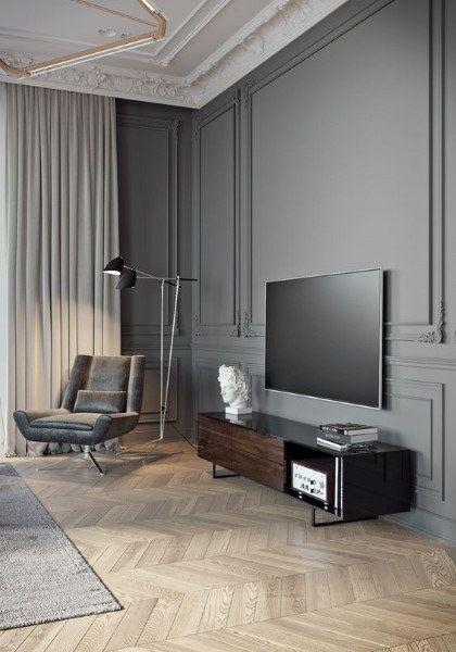 Image result for Chic wall paneling:living room in pinterest