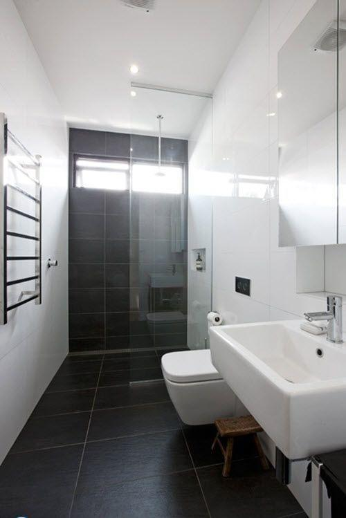 Image result for Dark Charcoal And Light Gray Combined bathroom pinterest