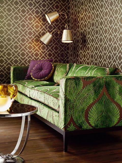 Image result for Echo the patternbrown sofa pinterest