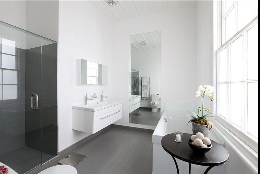 Image result for Gray Tile With Soft White Walls pinterest