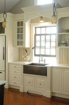 Image result for Height difference:kitchen window ideas pinterest