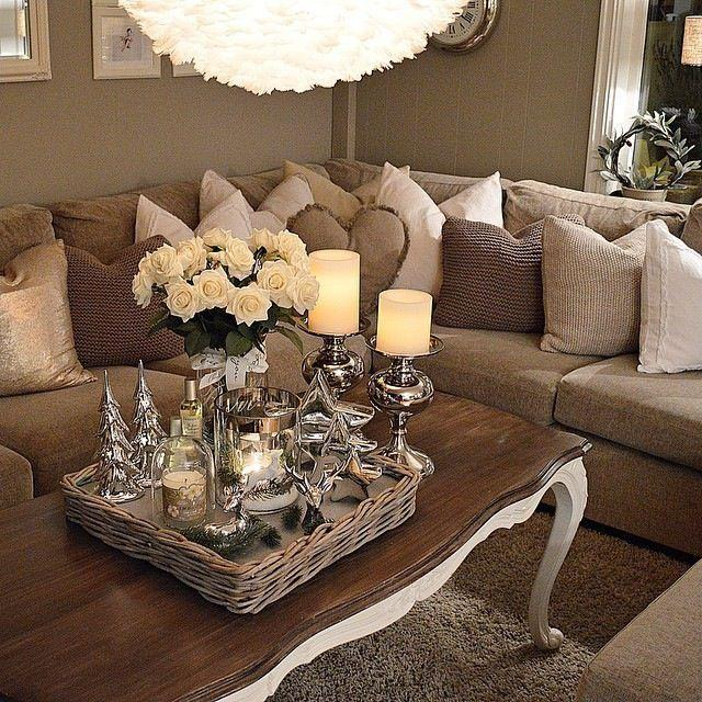Image result for Layer décor:brown sofa pinterest