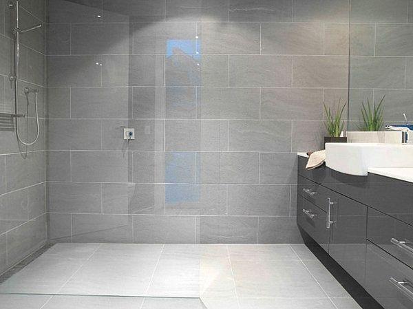 Image result for Medium Grays and CremesCharcoal Tile bathroom pinterest