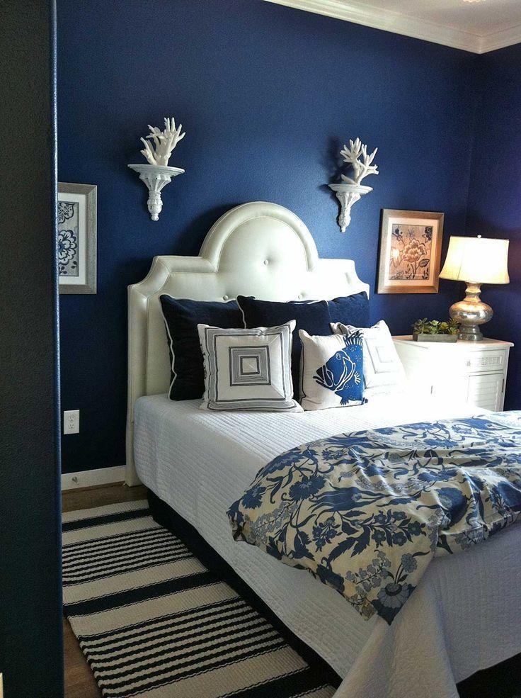 Image result for .  Navy Blue blue grey bedroom pinterest
