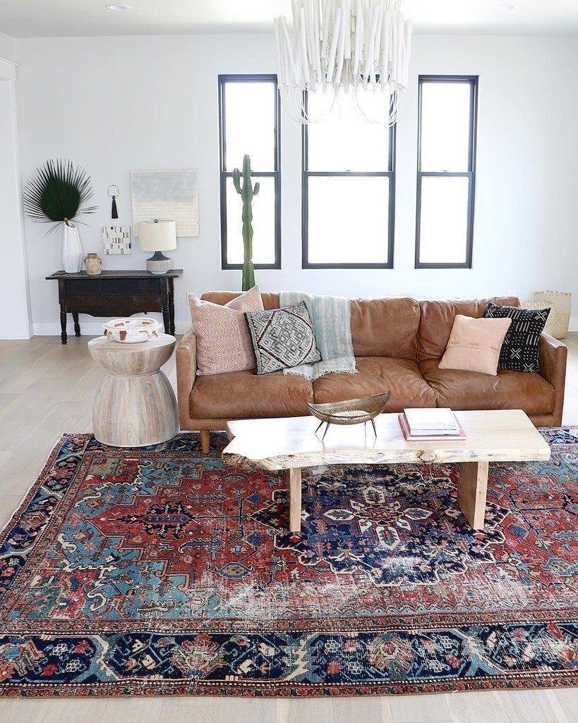 Image result for Oriental rug: rugs brown sofa pinterest