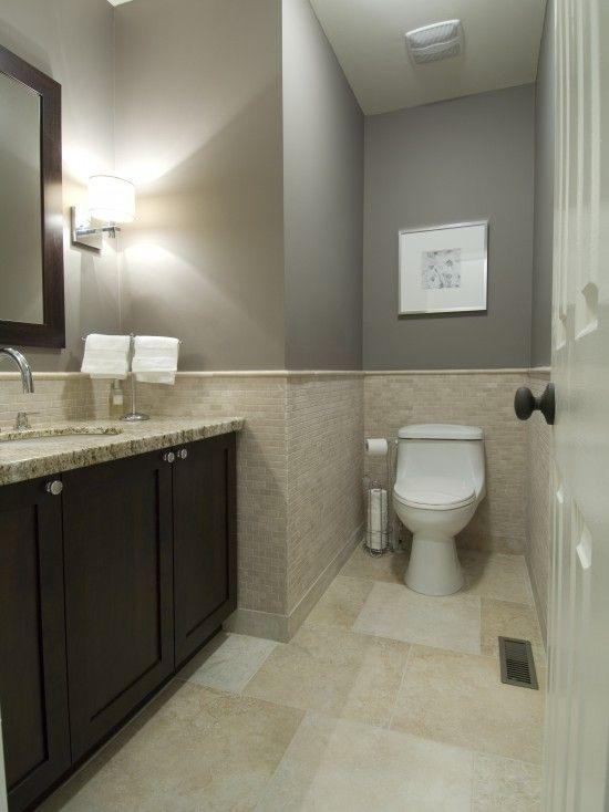 Image result for Pick Ivory Paint for Greige Tiles bathroom pinterest
