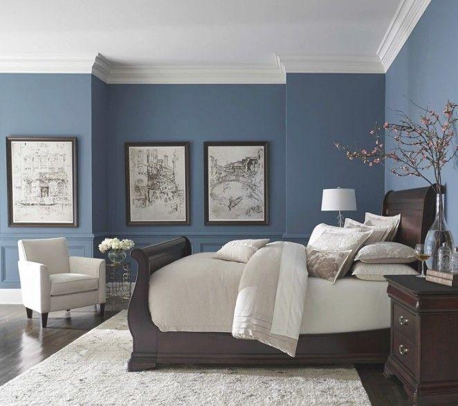 Image result for Satin blues: blue grey bedroom pinterest