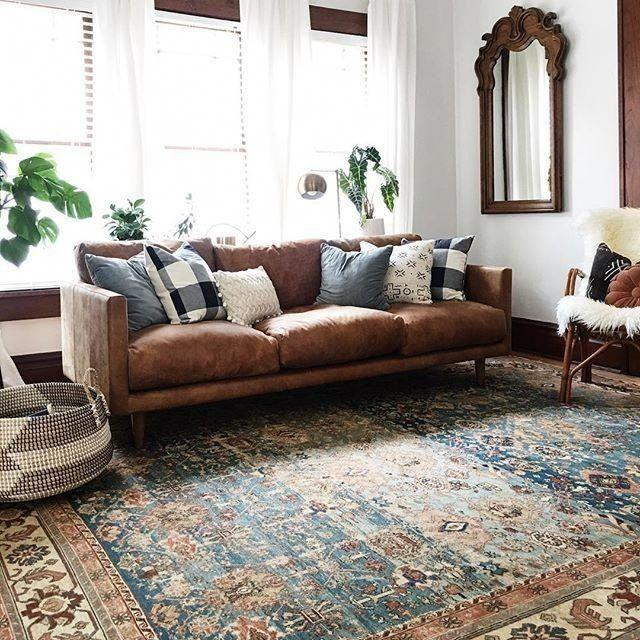 Image result for Softness rugs brown sofa pinterest