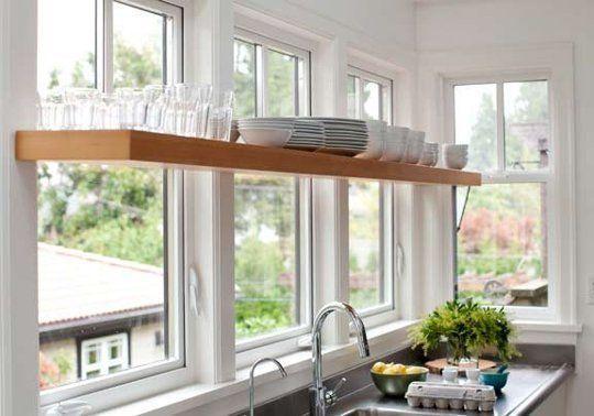 Image result for Stylish shelvingkitchen window ideas pinterest