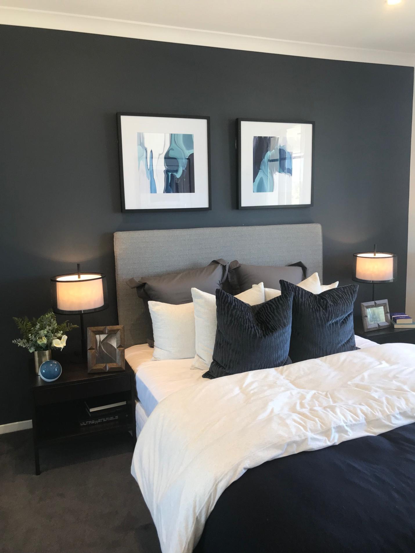 Image result for Subtle artwork::blue grey bedroom pinterest