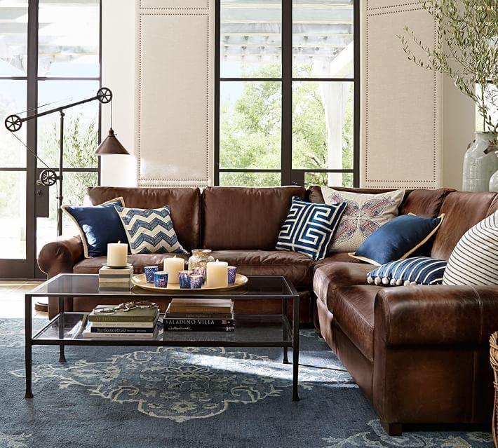 Image result for Subtle Color rugs  for brown sofa pinterest