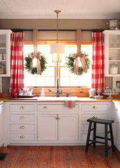 Image result for The charm of Gingham:kitchen window ideas pinterest