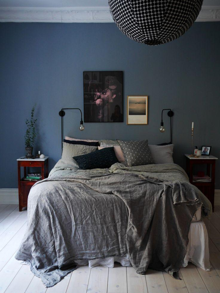 Image result for Traditional style blue grey bedroom pinterest