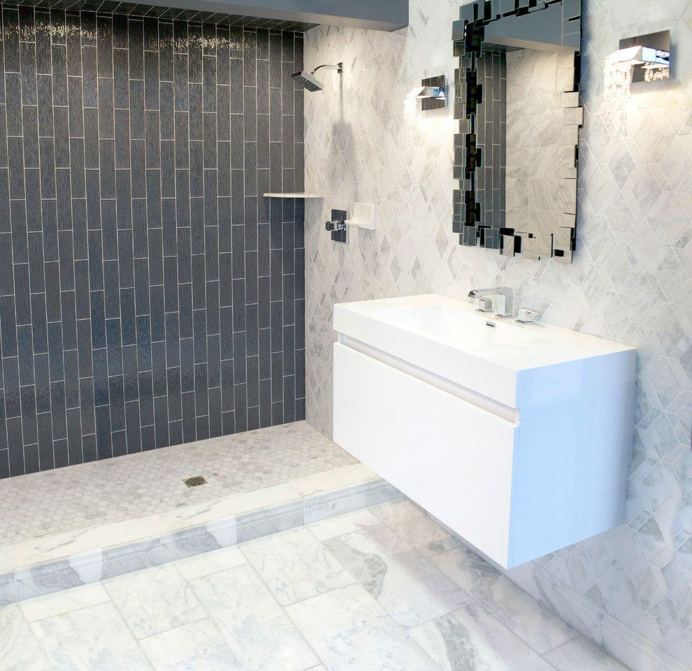 Image result for Use A Tile Border For Direction With Wall Color bathroom pinterest