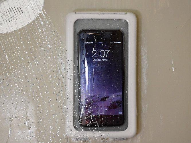 Image result for Waterproof phone holder shower pinterest