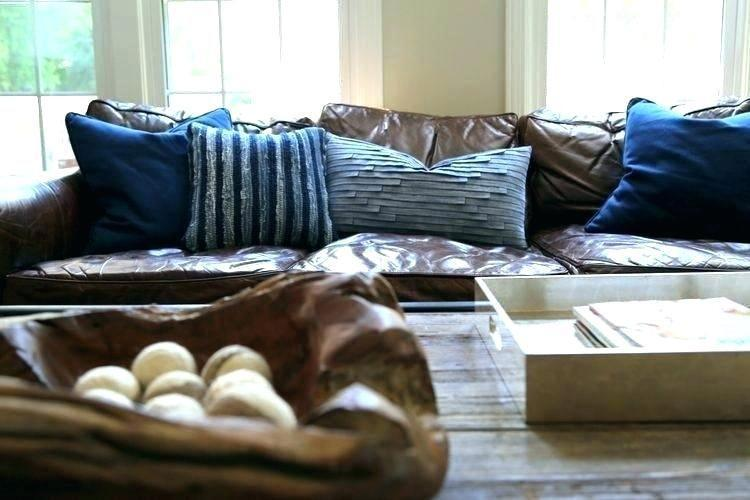 what color throw pillows for brown couch couch nice pillows for brown blue  on leather accen… | Leather couches living room, Brown leather couch, Brown  couch pillows